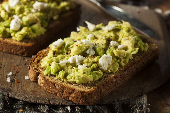 <p>Who needs butter? Avocado on toast!</p>