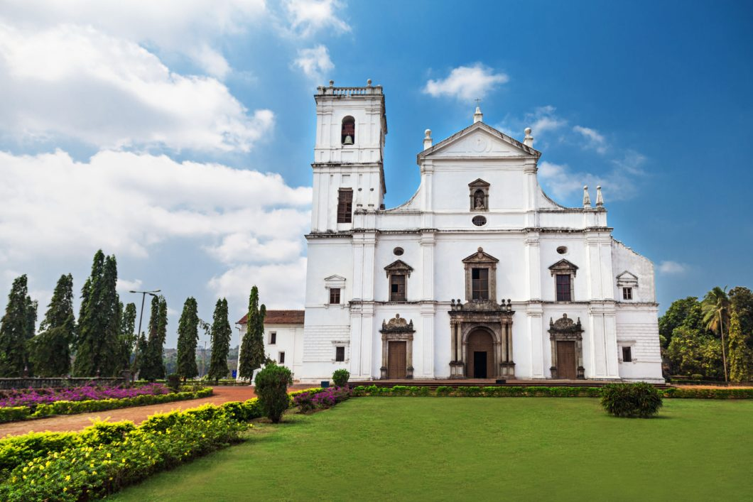 se cathedral in old goa, goa state, india, travel