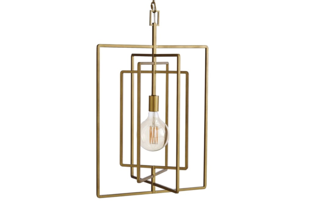 Pivot Brass Caged Pendant Light, Statement Furniture, Furniture, home, home and living, shopping, singapore