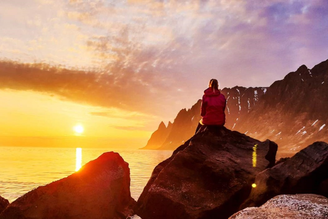 The midnight sun in Helgeland, Helgeland, Norway, europe, asia, travel, vacation, holiday