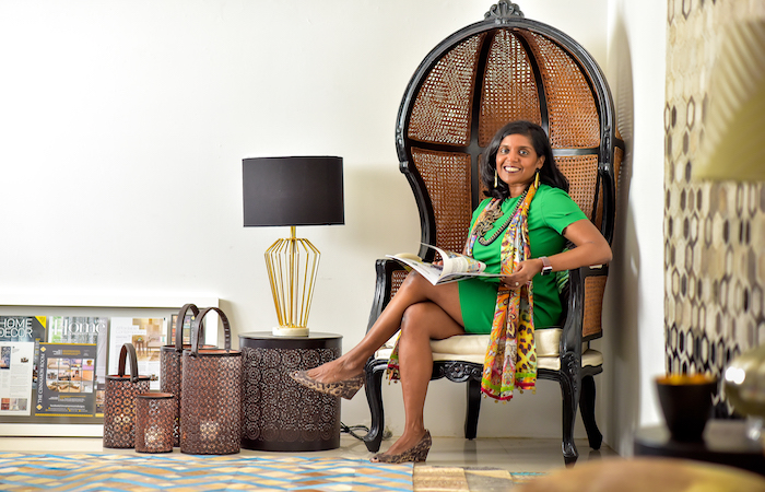 Visha Nelson, Founder and Designer of The Cinnamon Room chic decor resource