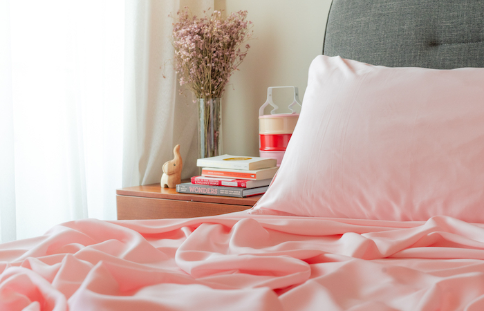 (featured image: TENCEL Lyocell in Blush Pink, Weavve Home)