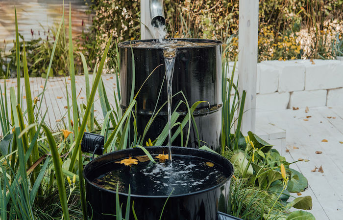 how to save water garden