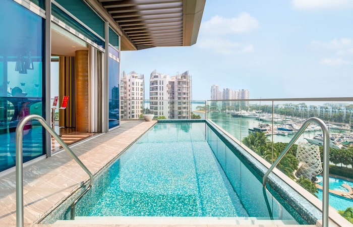 hotel with private pool singapore