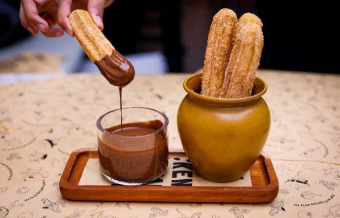 Chocolate churros at Chico Loco Mexican restaurant, Amoy Street, Singapore