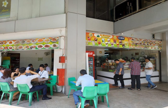 Al-Madinah halal food eatery, one of the few 24 hour eateries near Orchard Road, Singapore