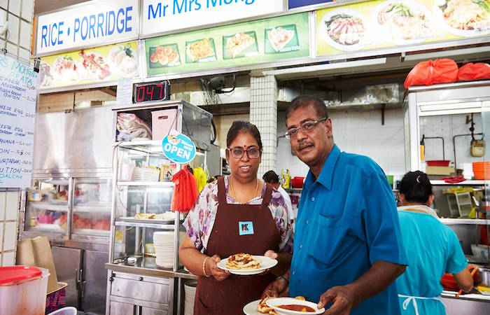 Meet the owners and star chefs of Mr and Mrs Mohgan's Famous Crispy Roti Prata, in Singapore