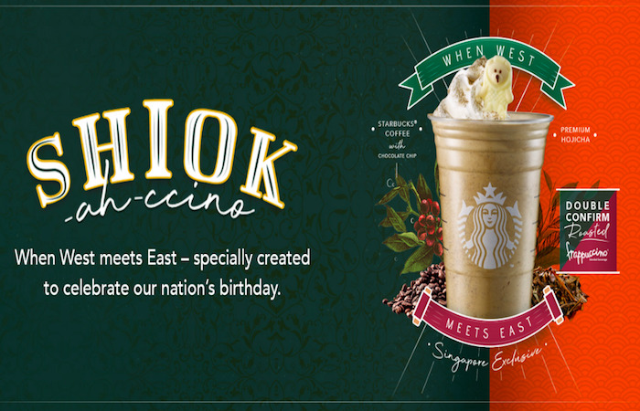 national day menu from Starbucks in SIngapore, for 2021 celebrations