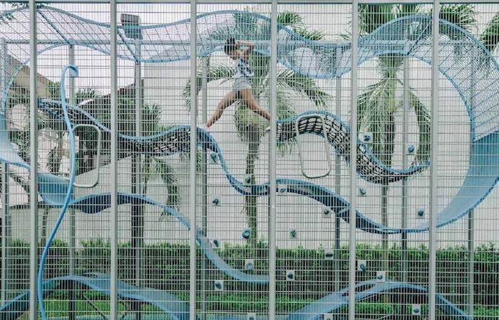 Capmael Park is an innovative vertical playground in Joo Chiat, East Coast, SIngapore