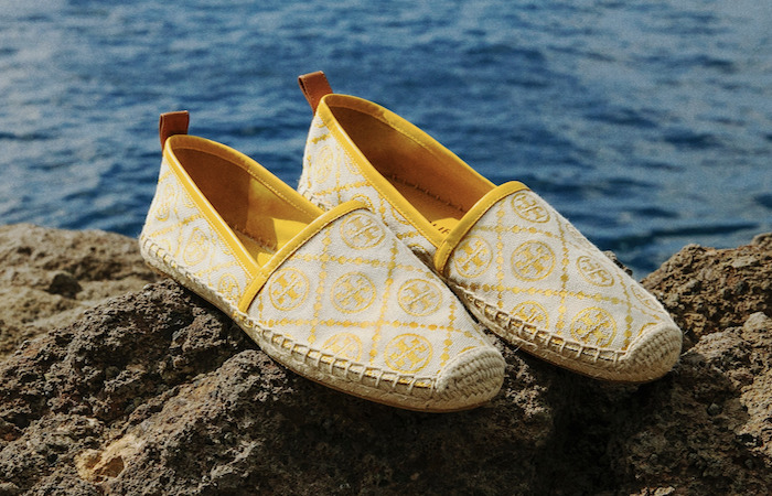 Large Size Women's canvas shoes, by Tory Burch