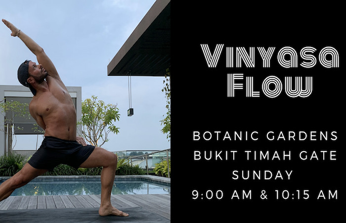 Learn yoga in the botanic gardens, with Vinyasa Flow,  in what's on this weekend
