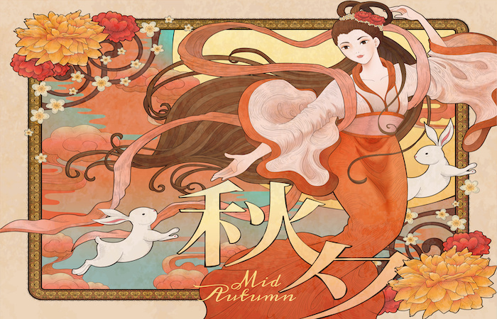 guid to he mid autumn festival - chang E and the rabbit in the moon