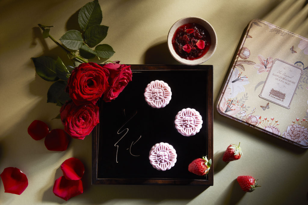 Delicious mooncakes from Raffles Hotel Singapore