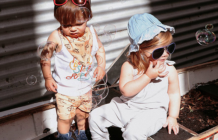 sustainable kids clothes brands in SIngapore include Kalila Organics