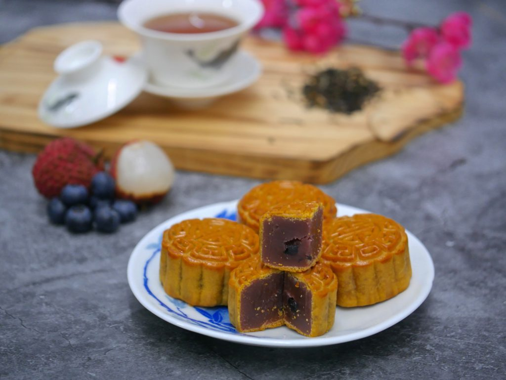 Joy Luck Teahouse's selection of fruity mooncakes.