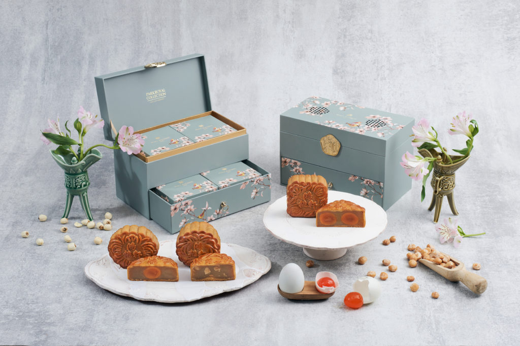 Peach Blossom's selection of traditional mooncakes in Singapore.