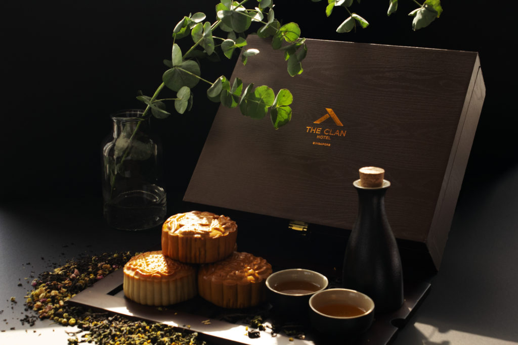 The Clan Hotel's gift box of mooncakes.