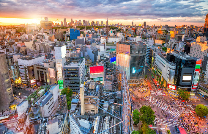 Shibuya crossing tokyo japan safest cities in the world