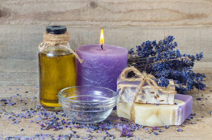 lavender scented oil or soap can help you sleep better