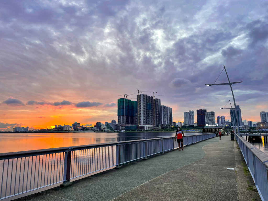 Guide to Woodlands in Singapore -  sunset at Woodlands Waterfront Park