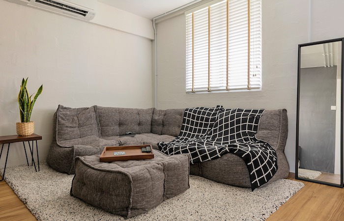 best sofas insingapore - grey modular sofa by Ambient Lounge