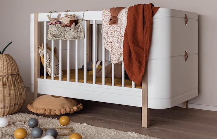 A baby's cot from children's furniture store in Singapore, Cookoo LIttle Lifestyle Store