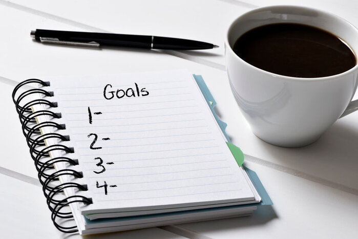 it helps to write down self-improvement goals in a journal