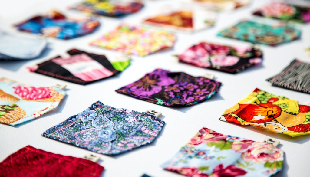 Scrap fabric can be upcycled into new items.