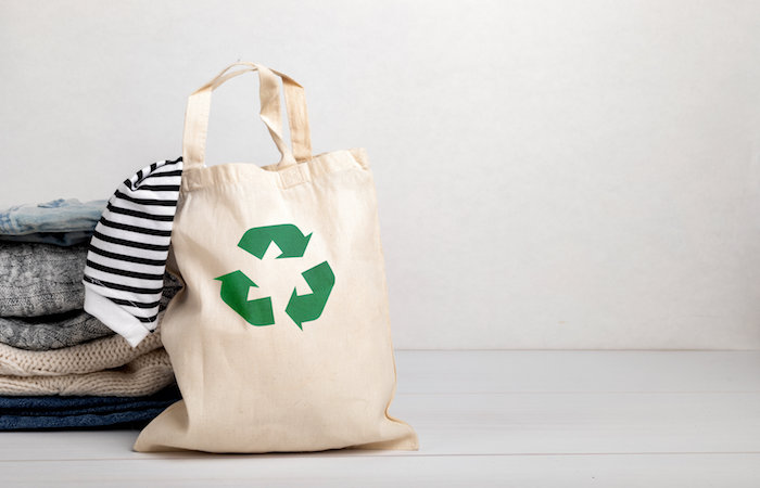 cloth recycled bag, for article on how to save money in Singapore