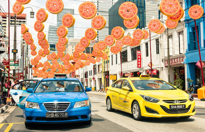 getting around Singapore  - how to hire a taxi