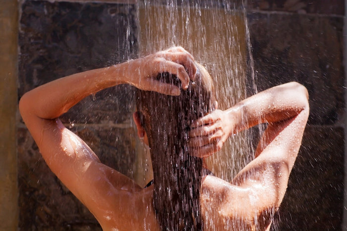 try a cool, not a hot shower before bed, to sleep better