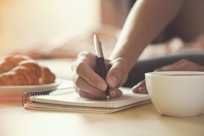 writing a to-do list can clear your mind, and let you sleep