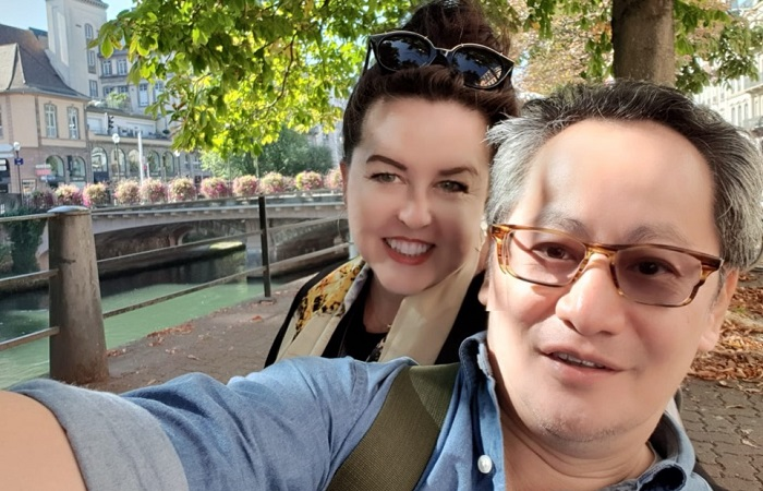 How to find true love as an expat - Tara Barker and Low Tuck Weng in Strasbourg